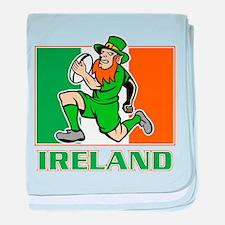 Irish leprechaun rugby baby blanket