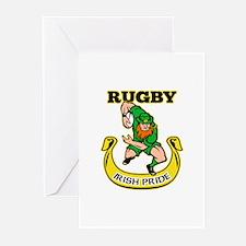 Irish leprechaun rugby Greeting Cards (Pk of 20)