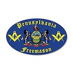 Masonic Pennsylvania 20x12 Oval Wall Peel