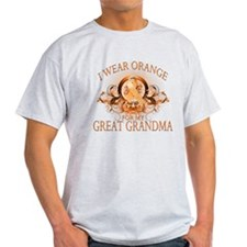 I Wear Orange for my Great Grandma (floral) T-Shirt