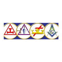 Masonic York Rite Circle 36x11 Wall Peel