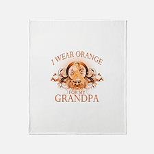 I Wear Orange for my Grandpa (floral) Stadium Bla