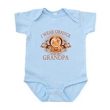 I Wear Orange for my Grandpa (floral) Infant Bodys