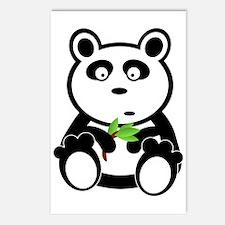 Panda Eating Bamboo Leaves Postcards (Package of 8