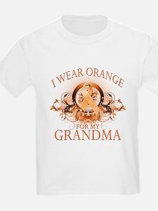I Wear Orange for my Grandma (floral) T-Shirt