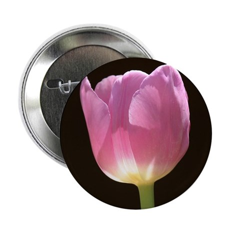 """Pink Tulip 2.25"""" Button (10 pack)"""