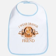 I Wear Orange for my Friend (floral) Bib