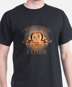 I Wear Orange for my Father (floral) T-Shirt