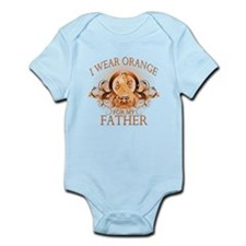 I Wear Orange for my Father (floral) Infant Bodysu