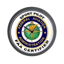 FAA Certified Sport Pilot Wall Clock