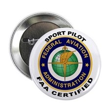"FAA Certified Sport Pilot 2.25"" Button"