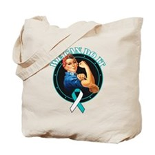 Cervical Cancer We Can Do It Tote Bag