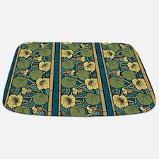 Blue and Yellow Floral Nouveau Bathmat