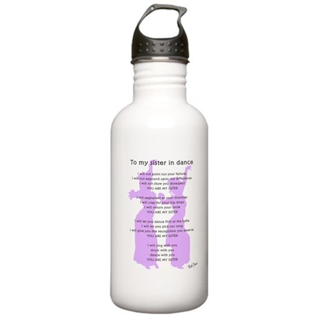 Bellydance Sister Poem Stainless Water Bottle 1.0L