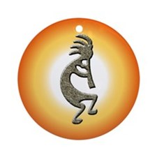 Kokopelli Ornament (Round)