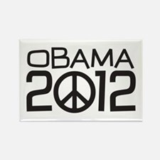 Peace Sign Obama Rectangle Magnet