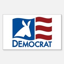 Democratic Flag Decal