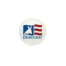 Democratic Flag Mini Button (10 pack)