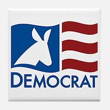Democratic Flag Tile Coaster