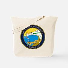 Santa Monica City Skeleton Tote Bag