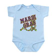 Mardi Gras in Purple and Green Infant Bodysuit