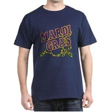 Mardi Gras in Purple and Green T-Shirt