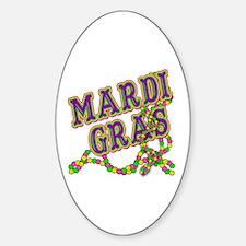 Mardi Gras in Purple and Green Decal