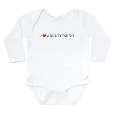 I Love a Kidney Patient Long Sleeve Infant Bodysui