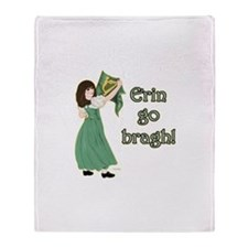 Erin Go Bragh Throw Blanket