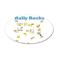 Rally Rocks v6 22x14 Oval Wall Peel