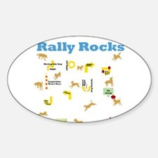 Rally Rocks v6 Sticker (Oval)