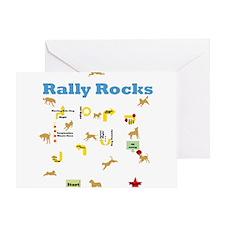 Rally Rocks v6 Greeting Card