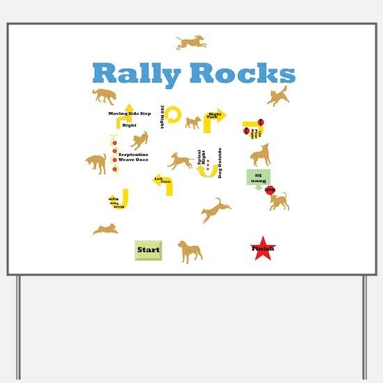 Rally Rocks v6 Yard Sign