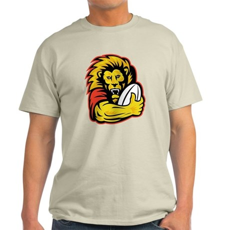 Lion playing rugby Light T-Shirt