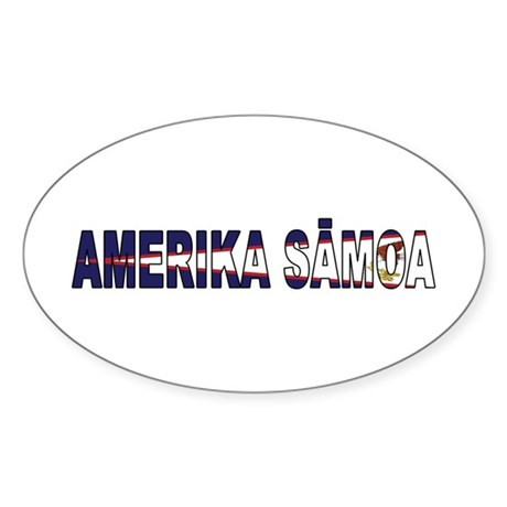 American Samoa Sticker (Oval)