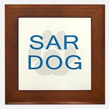 SAR Dog Framed Tile