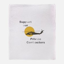 Support our Private Contracto Throw Blanket