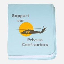 Support our Private Contracto baby blanket