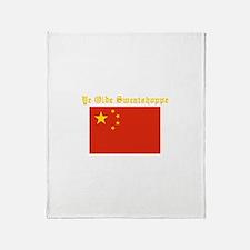 ye olde sweatshop Throw Blanket