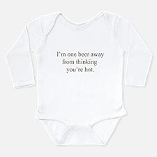 thinking you're hot Long Sleeve Infant Bodysuit
