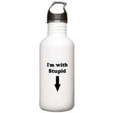 I'm with stupid Water Bottle