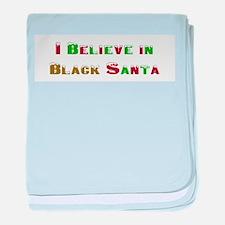 I believe in black santa baby blanket