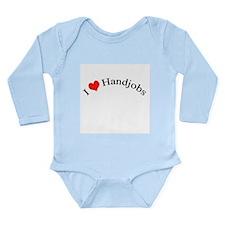 I love handjobs Long Sleeve Infant Bodysuit
