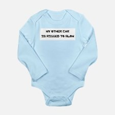 my other car is rigged Long Sleeve Infant Bodysuit