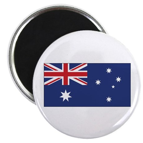 """Australia Flag 2.25"""" Magnet (100 pack)"""