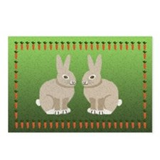 Rabbits and Carrots Postcards (Package of 8)