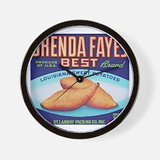 Cool Sweet potato Wall Clock