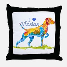 I LOVE HUNGARIAN VIZSLAS GIFTS Throw Pillow
