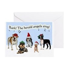 Bark The Herald Angels Sing Christmas Card
