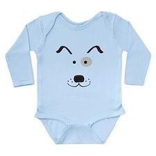 Cartoon Dog Face Long Sleeve Infant Bodysuit